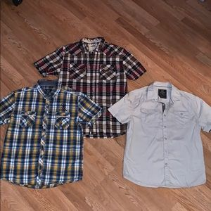 3 shirts button downs for men